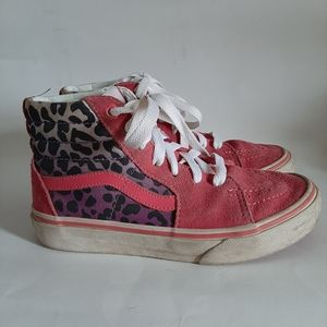 Van's Hightop Pink Leopard Print